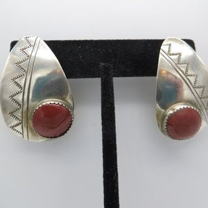 Large Vintage Sterling Earrings